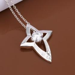 Vienna Jewelry Sterling Silver Dangling Starfish Emblem Drop Necklace - Thumbnail 0