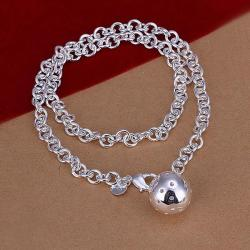 Vienna Jewelry Sterling Silver Pearl Center Drop Necklace - Thumbnail 0
