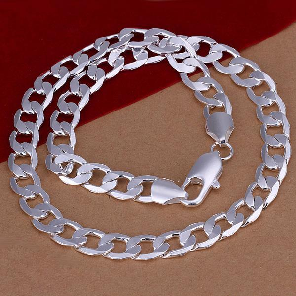 Vienna Jewelry Sterling Silver Muli-Chain Classic Necklace