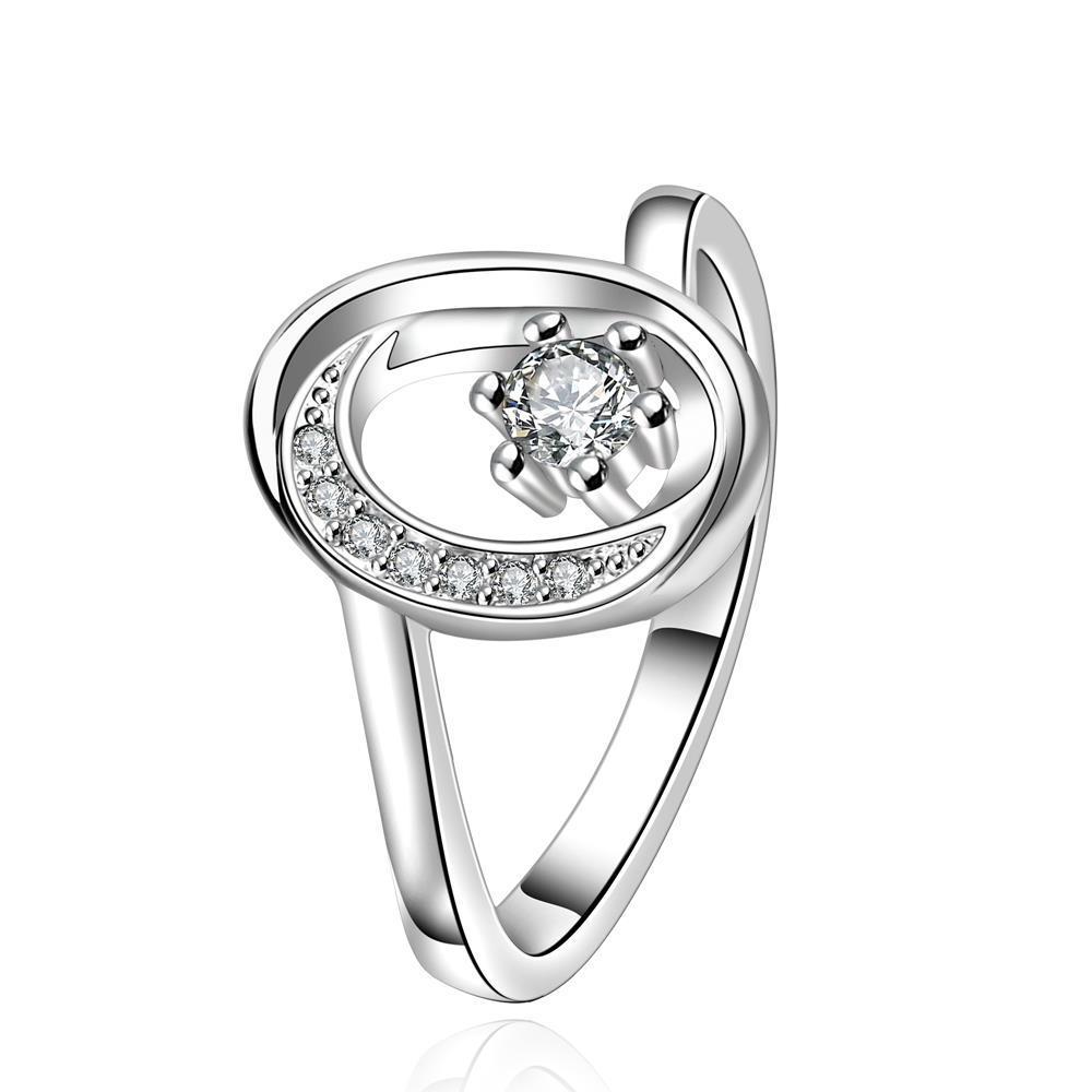 Vienna Jewelry Sterling Silver Classical Jewel Swirl Circular Emblem Ring Size: 7