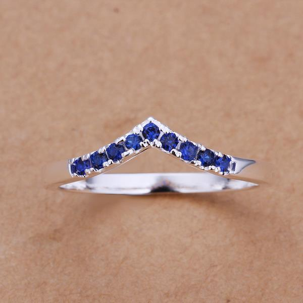 Vienna Jewelry Sterling Silver Sapphire Ingrain Petite Ring Size: 8