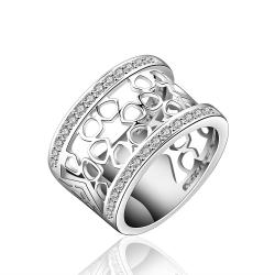 Vienna Jewelry Sterling Silver Laser Cut Circles Ring Size: 8 - Thumbnail 0