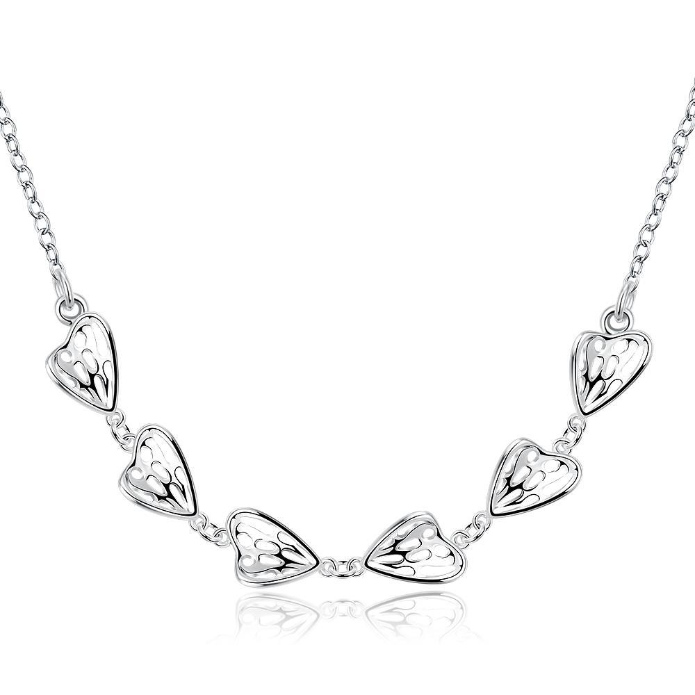Vienna Jewelry Sterling Silver Petite Plated Classical Necklace