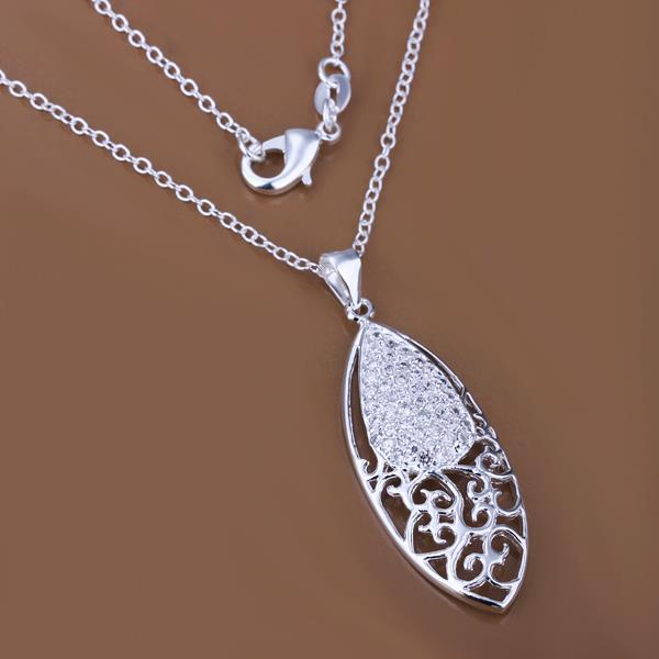 Vienna Jewelry Sterling Silver Filligree Emblem Drop Pendant - Thumbnail 0