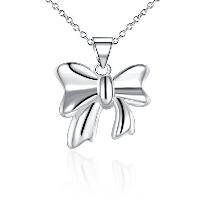 Vienna Jewelry Sterling Silver Intertwined Knot Pendant Necklace