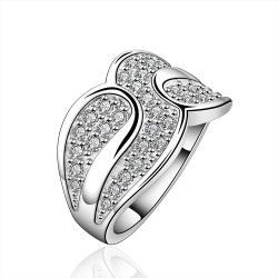 Vienna Jewelry Sterling Silver Multi Jewels Swirl Ring Size: 8 - Thumbnail 0