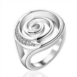 Vienna Jewelry Sterling Silver Swirl Design Emblem Modern Ring Size: 8 - Thumbnail 0