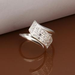 Vienna Jewelry Sterling Silver Upward Curved Jewels Petite Ring Size: 8 - Thumbnail 0