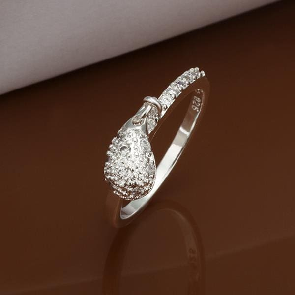 Vienna Jewelry Sterling Silver Crystal Emblem Modern Ring Size: 8
