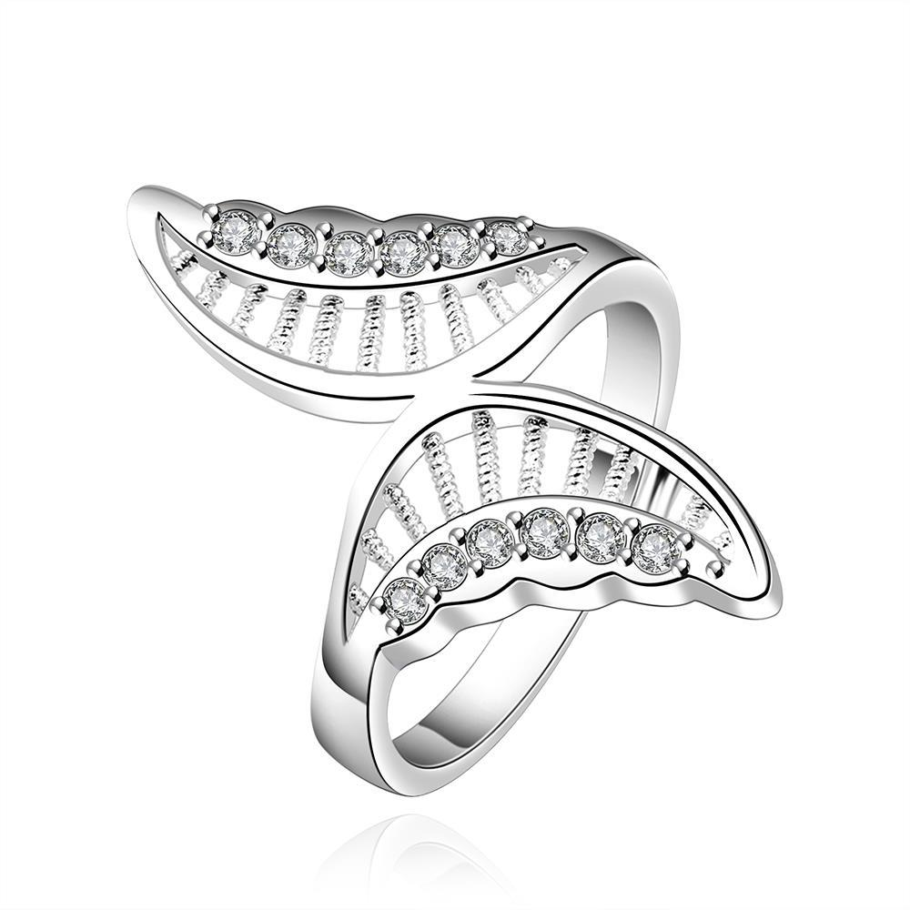 Vienna Jewelry Sterling Silver Twisted Butterfly Petite Ring Size: 8