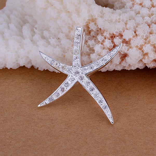 Vienna Jewelry Sterling Silver Jewels Starfish Pendant
