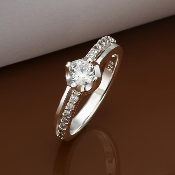 Vienna Jewelry Petite Classic Crystal Jewels Crusted Petite Ring Size: 8