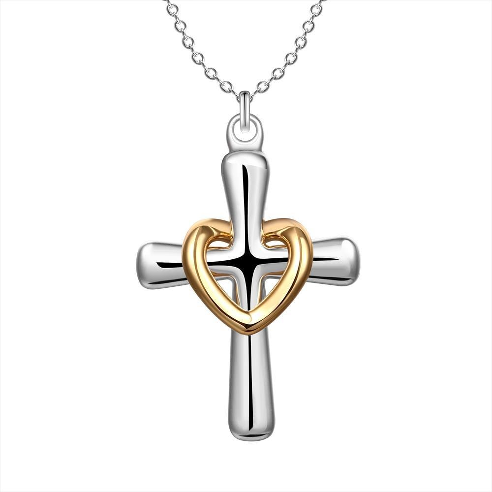 Vienna Jewelry Sterling Silver God Is Love Pendant