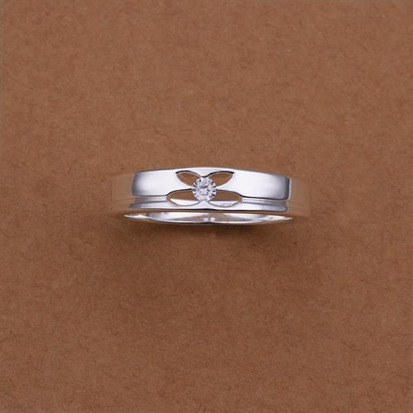 Vienna Jewelry Sterling Silver Hollow Petite Butterfly Ring Size: 8