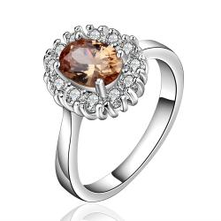 Vienna Jewelry Sterling Silver Orange Citrine Jewels Covering Petite Ring Size: 8 - Thumbnail 0