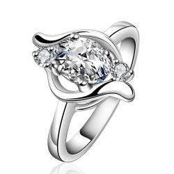 Vienna Jewelry Sterling Silver Orange Citrine Swirl Emblem Petite Ring Size: 8 - Thumbnail 0
