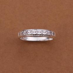 Vienna Jewelry Sterling Silver Jewels Insert Band Size: 8 - Thumbnail 0