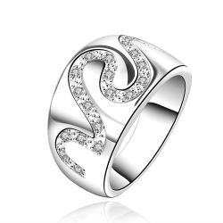 Vienna Jewelry Sterling Silver Swirl Jewels Covering Ring Size: 8 - Thumbnail 0