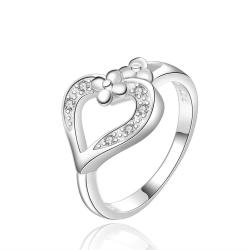 Vienna Jewelry Sterling Silver Hollow Heart Classic Ring Size: 8 - Thumbnail 0
