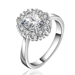 Vienna Jewelry Sterling Silver Classic Crystal Jewels Covering Petite Ring Size: 8 - Thumbnail 0