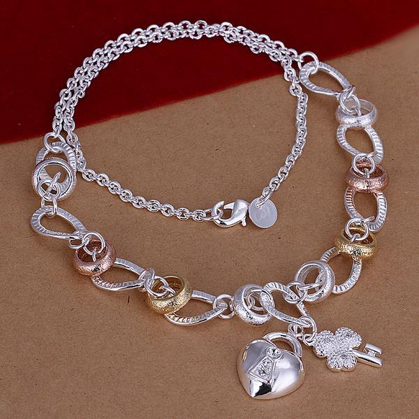 Vienna Jewelry Sterling Silver Fun Charms Drop Necklace