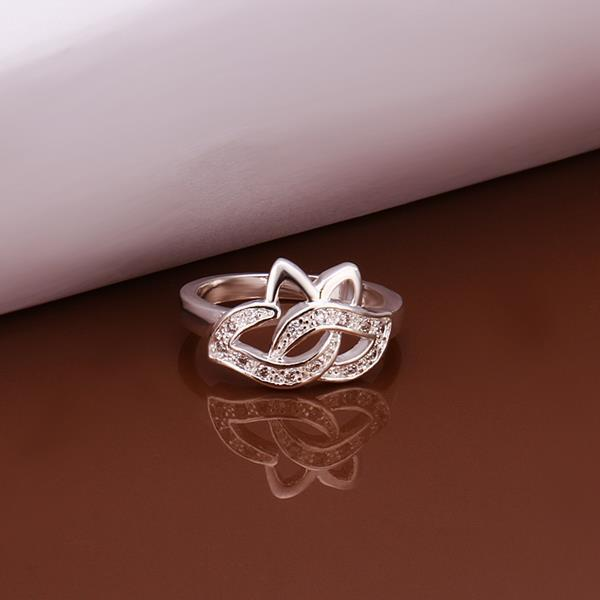 Vienna Jewelry Sterling Silver Hollow Blossoming Floral Petite Ring Size: 8