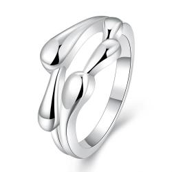 Vienna Jewelry Sterling Silver Curved Multi Lining Petite Ring Size: 7 - Thumbnail 0