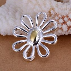 Vienna Jewelry Sterling Silver Hollow Clover Pendant - Thumbnail 0