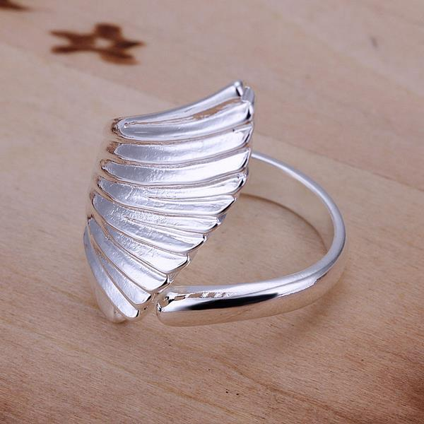 Vienna Jewelry Sterling Silver Seashell Design Ring Size: 8