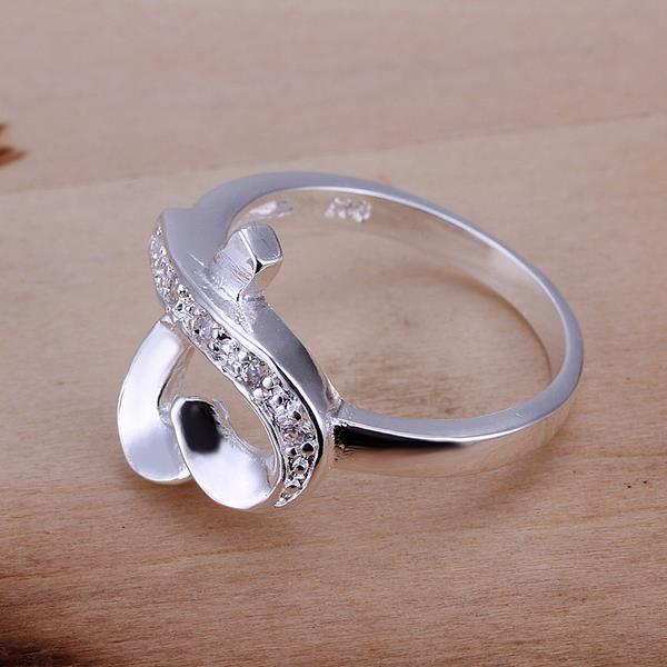 Vienna Jewelry Sterling Silver Infinite Heart Shaped Petite Ring Size: 8