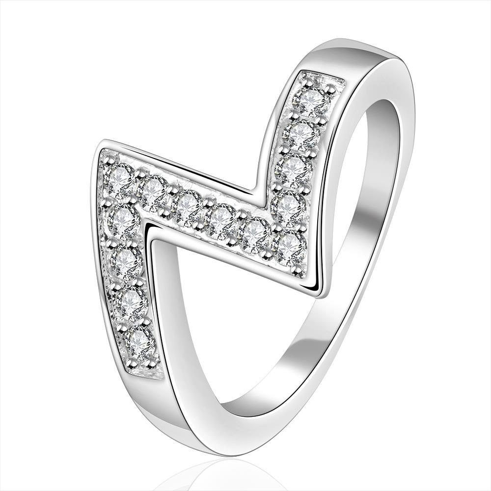 Vienna Jewelry Sterling Silver Zig-Zag Design Classic Ring Size: 7