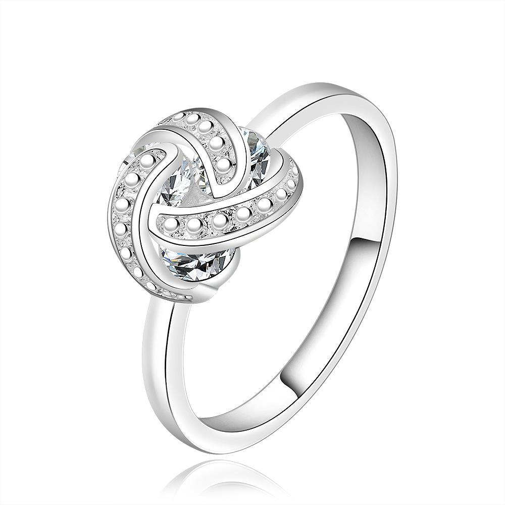 Vienna Jewelry Sterling Silver Love-Knot Jewels Covering Ring Size: 8