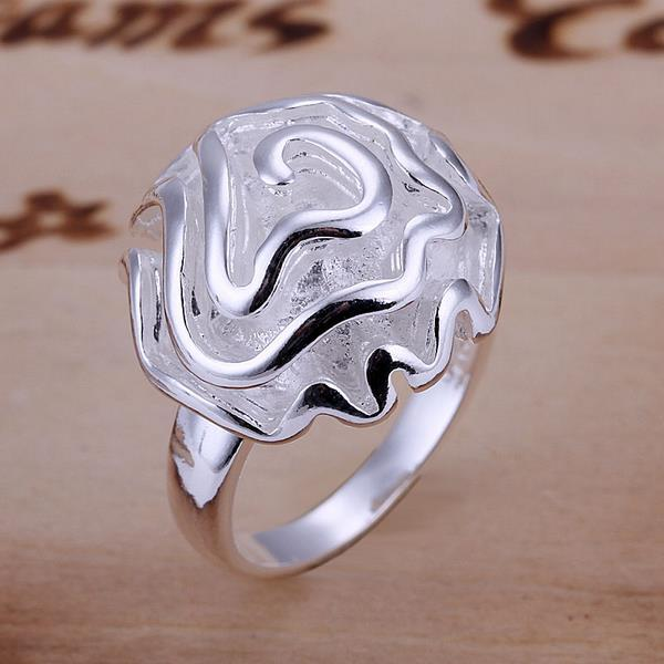 Vienna Jewelry Sterling Silver Classic Blossoming Floral Ring