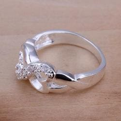 Vienna Jewelry Sterling Silver Infinite Swirl Design Petite Ring Size: 7 - Thumbnail 0