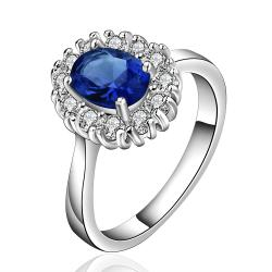 Vienna Jewelry Sterling Silver Sapphire Jewels Covering Petite Ring Size: 7 - Thumbnail 0