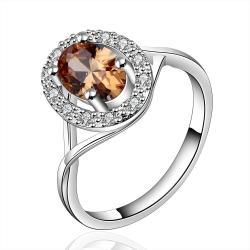 Vienna Jewelry Sterling Silver Orange Citrine Jewels Coverd Modern Twist Ring Size: 7 - Thumbnail 0