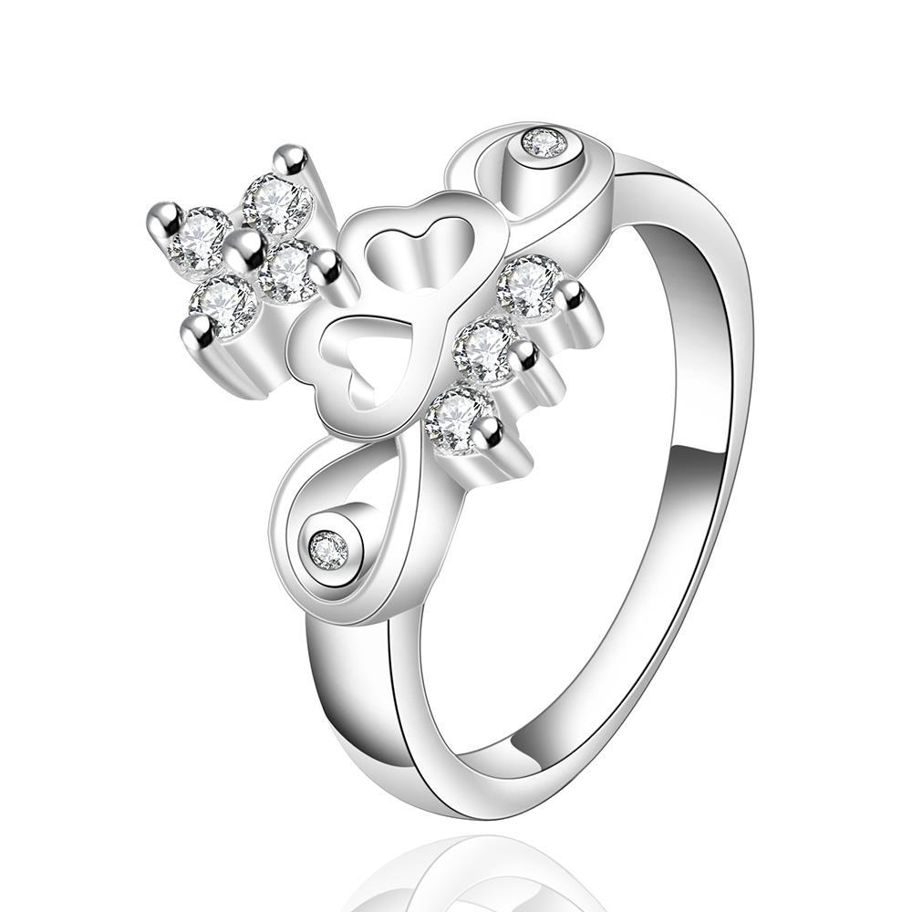 Vienna Jewelry Sterling Silver Abstract Floral Orchid Ring Size: 8