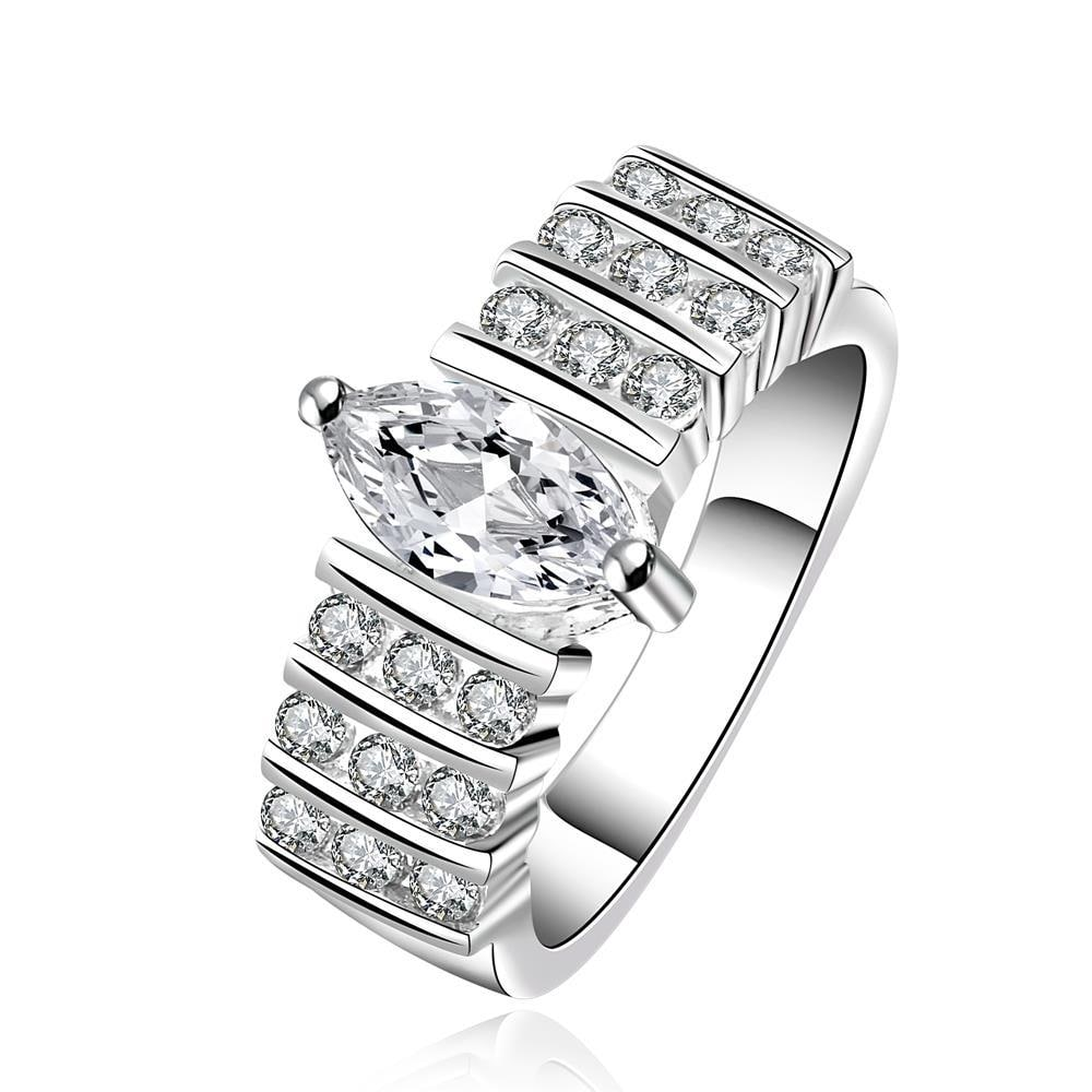Vienna Jewelry Sterling Silver Multi Crystal Jewels Surronding Ring Size: 7