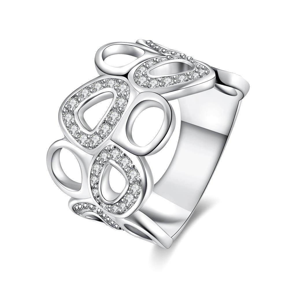 Vienna Jewelry Sterling Silver Hollow Surronding Circles Abstract Ring Size: 8