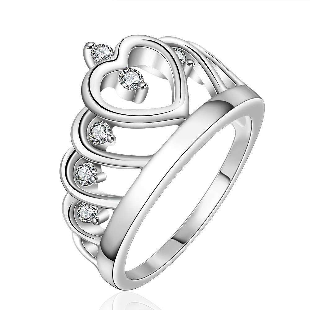 Vienna Jewelry Sterling Silver Laser Cut King's Crown Abstract Ring Size: 8
