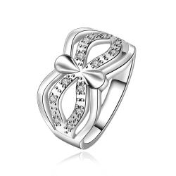 Vienna Jewelry Sterling Silver Infinite Swirl Petite Ring Size: 8 - Thumbnail 0