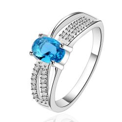 Vienna Jewelry Sterling Silver Light Sapphire Jewels Layering Petite Ring Size: 7 - Thumbnail 0