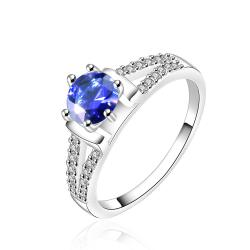 Vienna Jewelry Sterling Silver Sapphire Jewels Covering Wedding Ring Size: 7 - Thumbnail 0