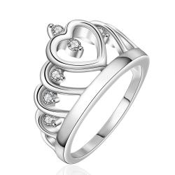 Vienna Jewelry Sterling Silver Laser Cut King's Crown Abstract Ring Size: 8 - Thumbnail 0