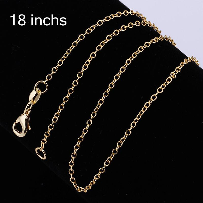 Vienna Jewelry Sterling Silver Gold Coloring Chain Necklace