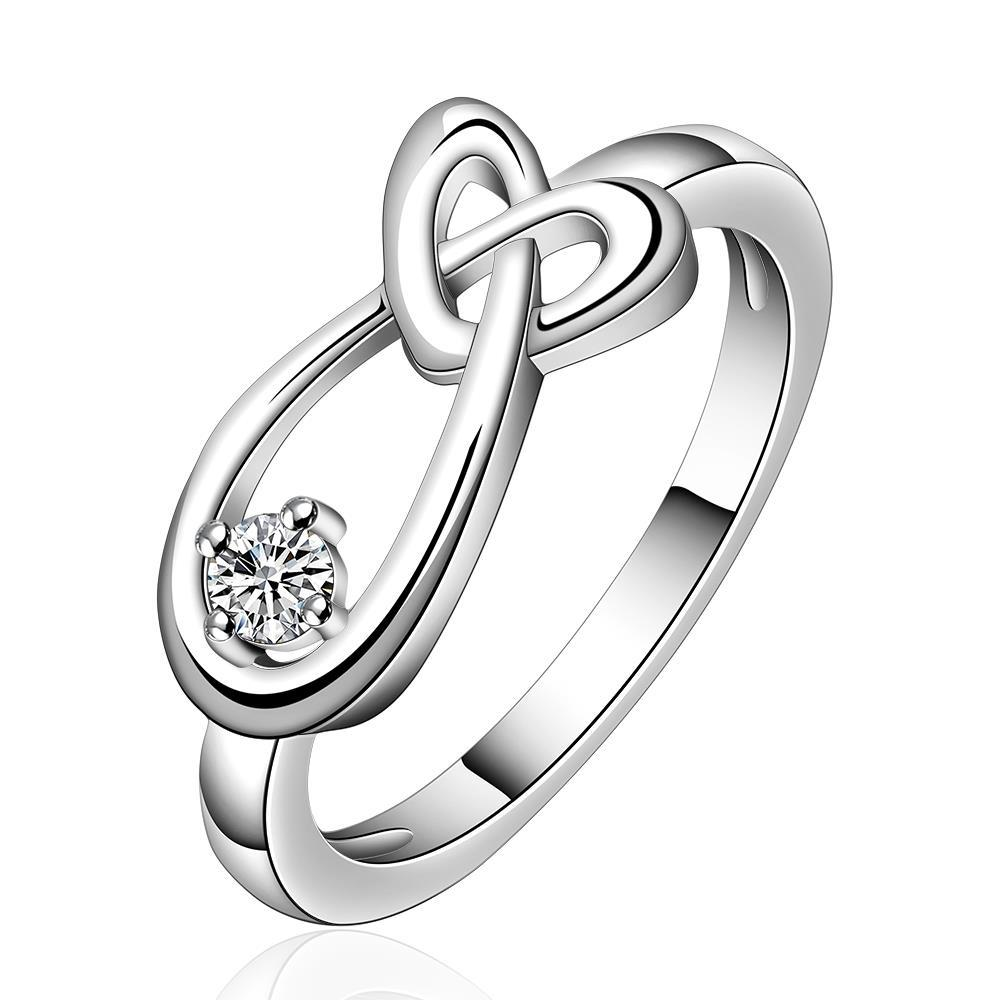 Vienna Jewelry Sterling Silver Intertwined Abstract Petite Ring Size: 8