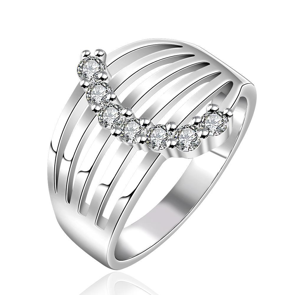 Vienna Jewelry Sterling Silver Jewels Covering Laser Cut Modern Ring Size: 8