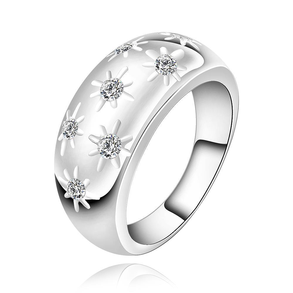 Vienna Jewelry Sterling Silver Multi Gem Modern Ring Size: 7