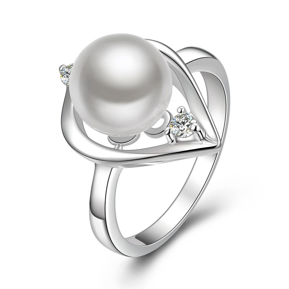 Vienna Jewelry Sterling Silver Mid Size Pearl Insert Ring Size: 8