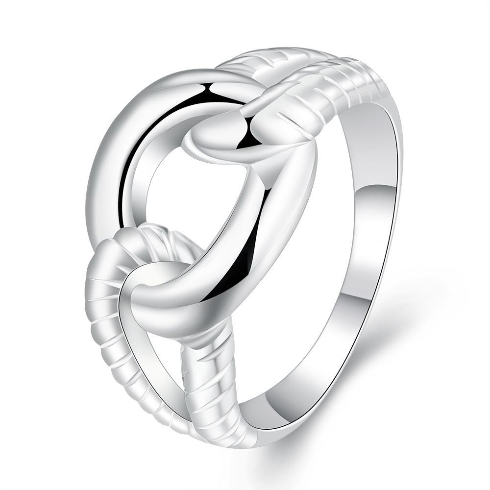 Vienna Jewelry Sterling Silver Intertwined Chain Classic Ring Size: 8